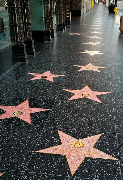 Hollywood Walk of Fame, didn't get a chance to actual walk there but I saw it which was just as good!