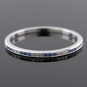 Ultra Thin Platinum Stackable Channel Set Diamond and ...