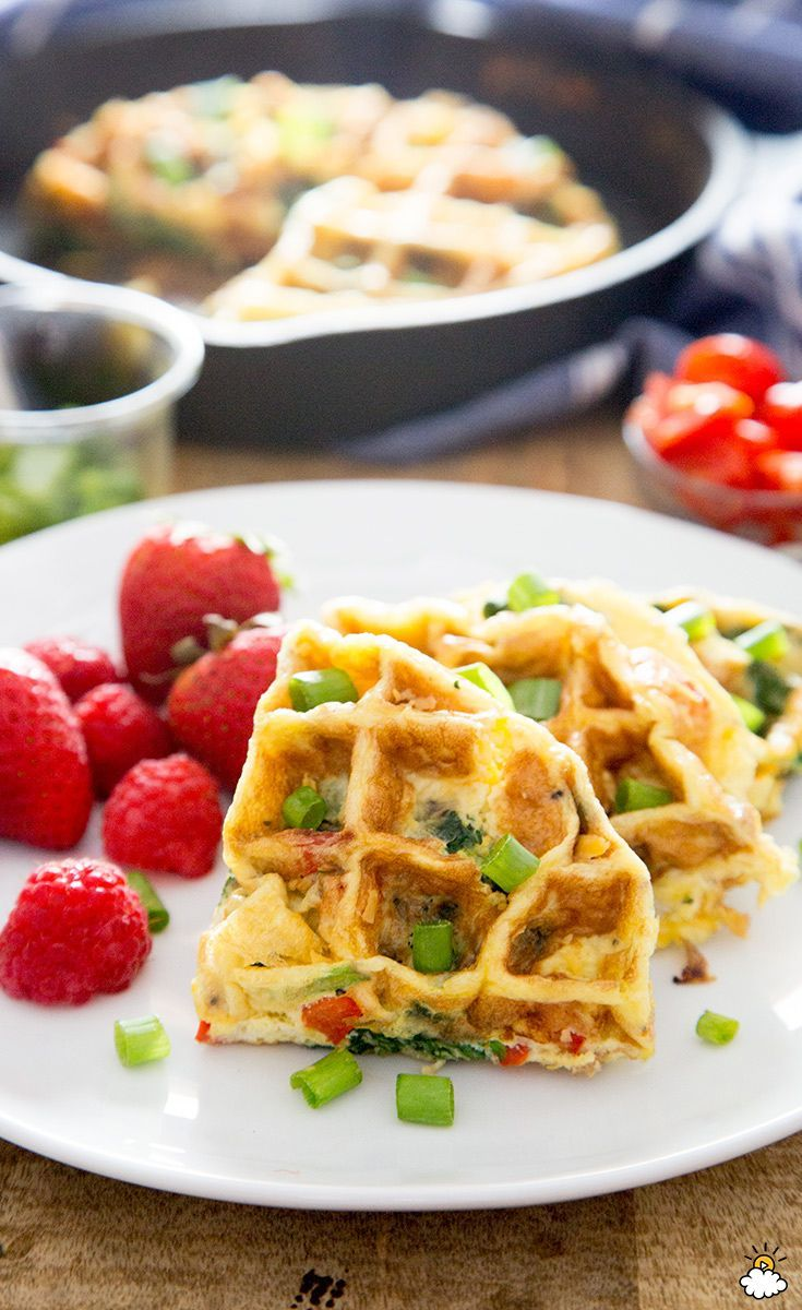 Dump Omelette Ingredients Into A Waffle Iron To Make The Tastiest Breakfast Ever