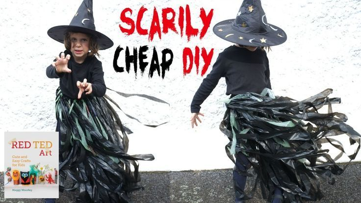 Need some SCARY Halloween Costumes in a Hurry.. this is a SCARILY CHEAP and easy to make DIY Halloween Costume - create your own no sew Witch's outfit.. it has never been easier to be spooky!
