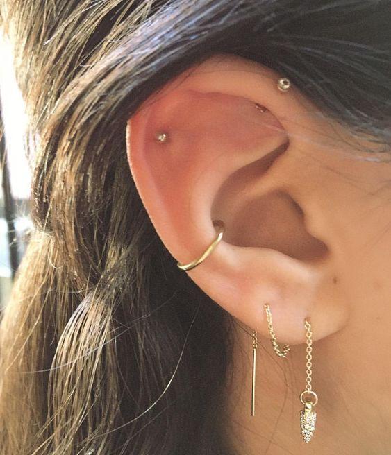 46 Ear Piercings for Women Beautiful and Cute Ideas