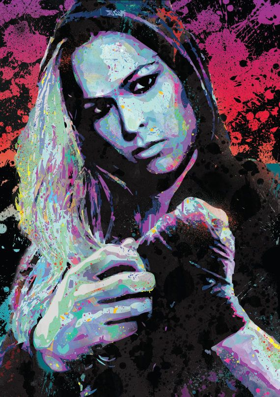 Ronda Rousey UFC spray paint street art Pop by ExtremepandaDesign