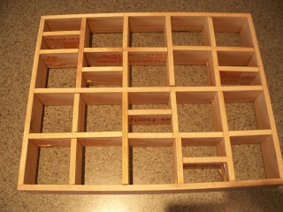 #CURIO #SHELF - made from free paint sticks - can use yardsticks