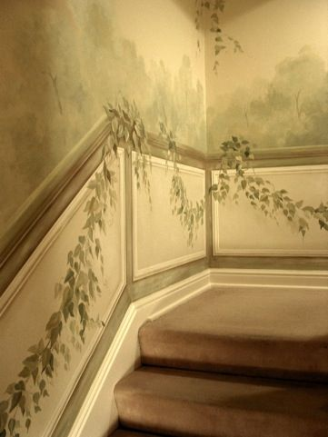 Stairway wall mural trompe l'oeil. www.gladkovstudios.com