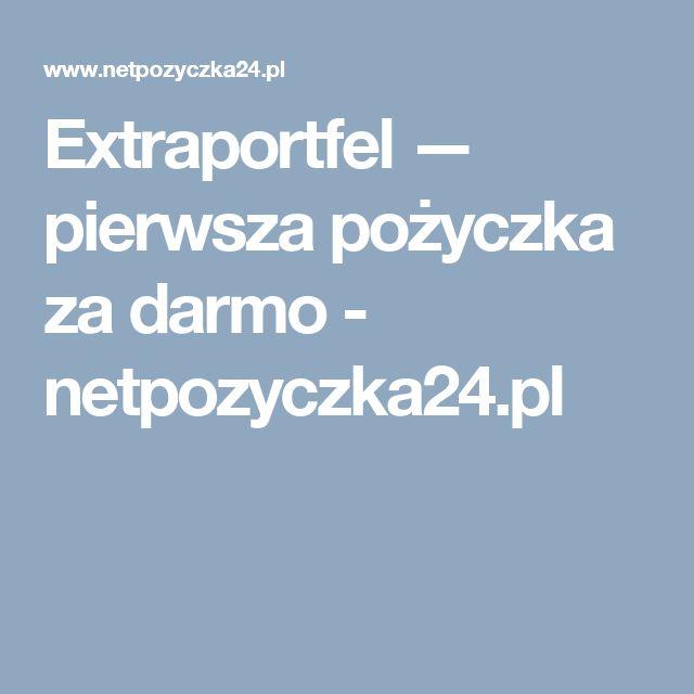 Extraportfel https://www.netpozyczka24.pl/extraportfel/ dotyczy pożyczki pozabankowej w ofercie promocyjnej do 2000 zł pierwszej pożyczki za darmo dla nowych klientów. Spłata jest przewidziana do 45 dni - maksymalny wymiar kwoty kredytu dla stałych klientów wynosi 5000 zł.