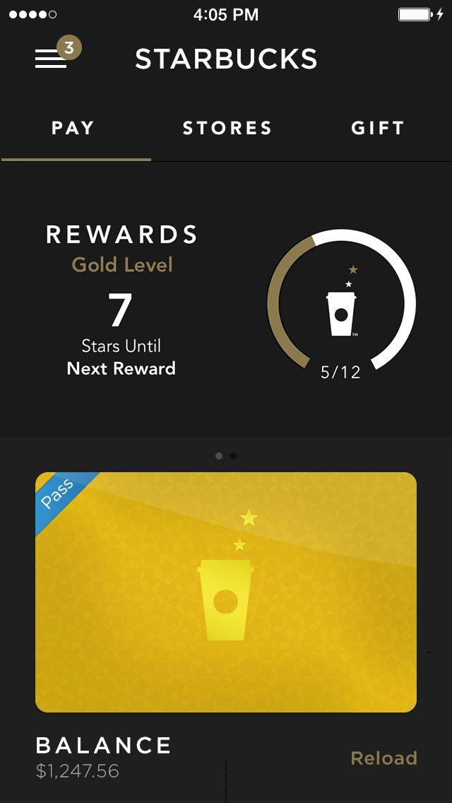 Starbucks #ui #app #ios