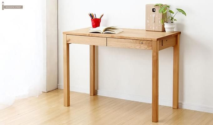 Frodo Study Table Cum Shelf (Natural Finish)-3
