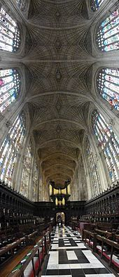 The world's largest Fan Vault, King's College Chapel, Cambridge, UK