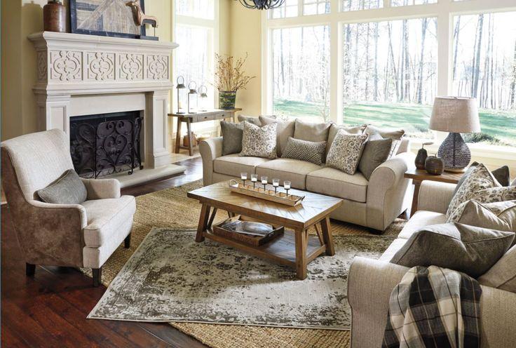 Ashley's very own Baxley sofa!
