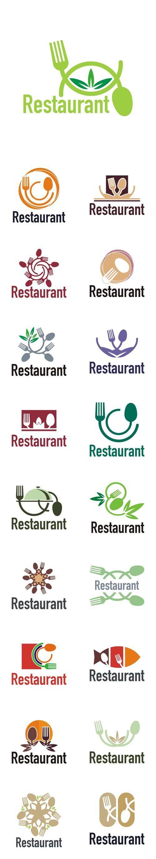 Vector Restaurant Logo Cutlery Design