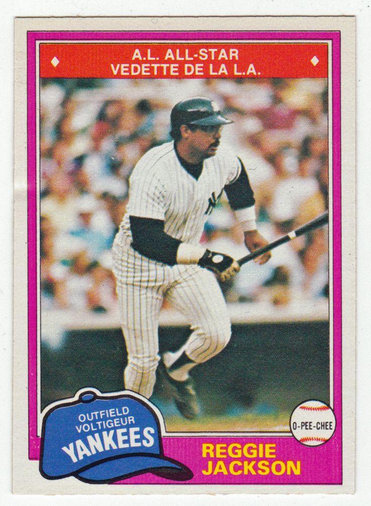 Reggie Jackson # 370 - 1981 O-Pee-Chee Baseball