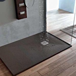 Piatto doccia in resina effetto pietra forma hafro for Prezzi piatti doccia