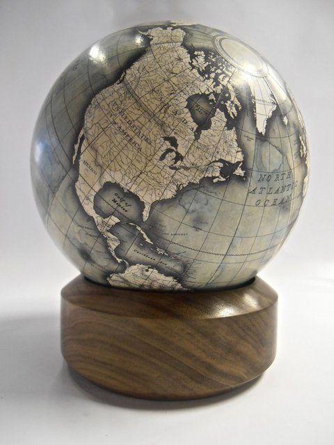 Desk Globe by Bellerby Globemakers Handmade, bespoke, custom mini desk globe. Globes, world globe, antique globe, modern globe, handmade globe, bespoke globe, best globe, hand painted, earth, globetrotter, globetrekker, golden globes, the world, bellerby and co.