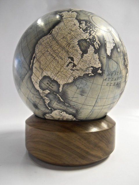 Desk Globe by Bellerby Globemakers Handmade, bespoke, custom mini desk globe.  Globes, world globe, antique globe, modern globe, handmade globe, bespoke globe, best globe, hand painted, earth, globetrotter, globetrekker, golden globes, the world, bellerby and co.