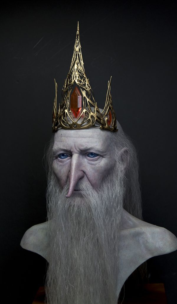 Incredibly Realistic Sculptures Of Ice King And Lemongrab From Adventure Time - Neatorama