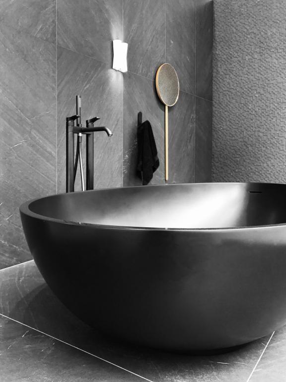 Mastelladesign Vov Black Bathtub Is Truly A Special Product