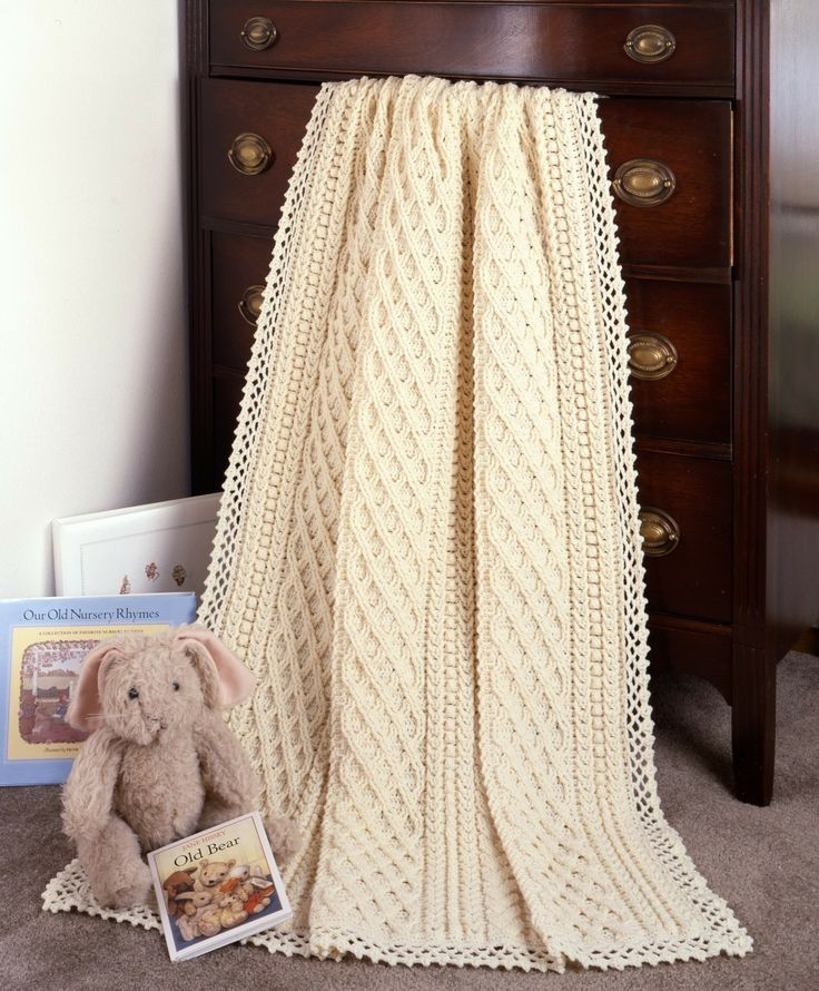 Crochet Panel Afghan Patterns : Aran Baby Afghans to Crochet eBook Crochet baby, Tree of ...