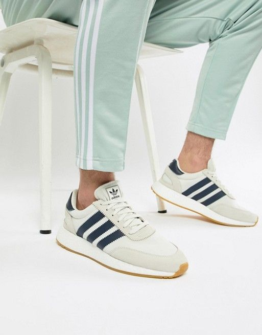 hot sales ba66f 36643 adidas Originals I-5923 Boost Suede Sneakers In White B37947