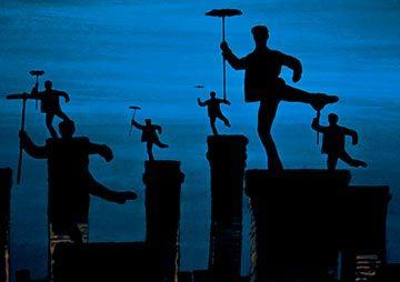 Mary Poppins (1964)  Julie Andrews, Dick Van Dyke and David Tomlinson  Chim Chiminy...Big smile =D