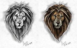 deviantART: More Like Male lion Tattoo design by =Marzzpark