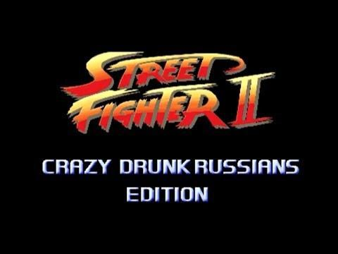 Funny Drunk Russians Fight Turned Into Street Fighter Game - #funny #Russians #StreetFighter