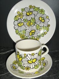Daisies Trio Coffee Can - very mod!