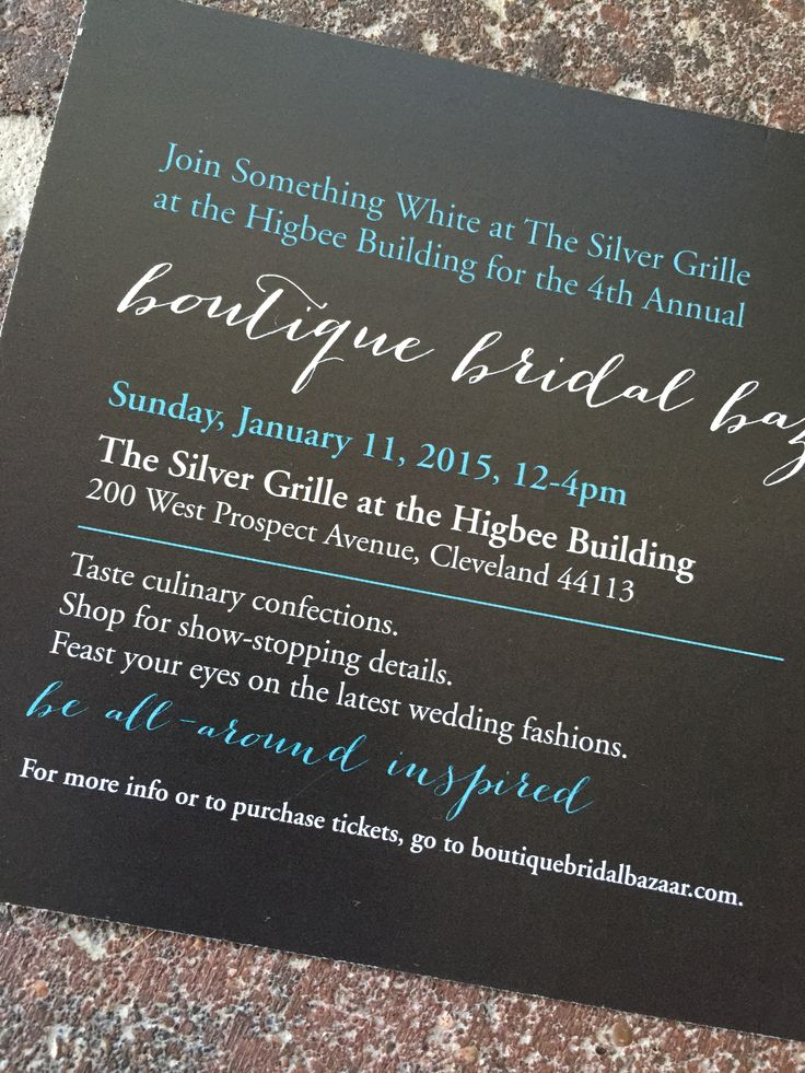 wedding invitations that look like theatre tickets%0A Get tickets for the best wedding show in Cleveland at   BoutiqueBridalBazaar com  bridalshow