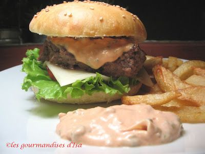 "Les gourmandises d'Isa: BURGER  DOUBLE FROMAGE ""SAUCE BIG NICK"""