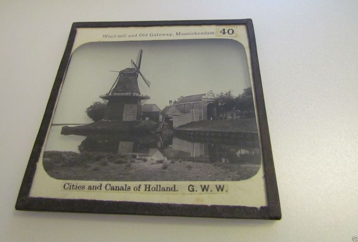 Glass Magic Lantern Slide WINDMILL & OLD GATEWAY MONNICKENDAM C1890 NETHERLANDS | eBay
