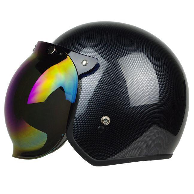 Iridium ~ Bobber Helmet Bubble Visor Vintage fits Arai Shoei Sparx Biltwell TORC   eBay