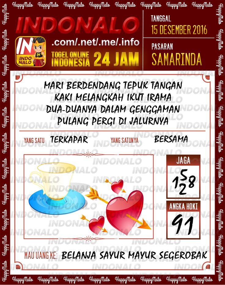 Tafsir Lotre 2D Togel Wap Online Live Draw 4D Indonalo Samarinda 15 Desember 2016