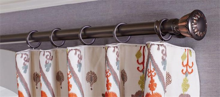 """Bellaire Urn 1-3/8"""" dia. Custom Metal Curtain Drapery Rod Hardware : Sold as a Set : Two tone finish colors for a nice pop at the top of your window treatments. Choose custom finish color and cut to exact size.  Residential/Interior Designer/Architect"""