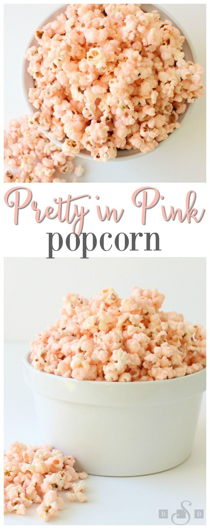 Pretty In Pink Popcorn - Butter With A Side of Bread (Make it with organic ingredients, and skip the food coloring.)