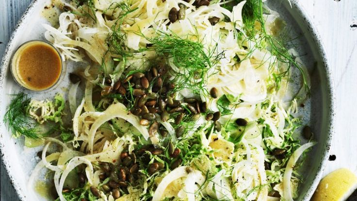 Brussel sprout and fennel salad.