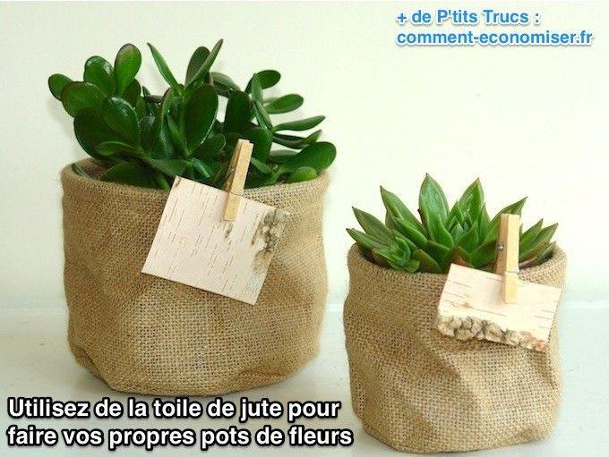 Au lieu d'acheter des pots en plastique ou des pots de fleurs en terre cuite et des jardinières, l'astuce consiste à récupérer des sacs de café ou de sucre en toile de jute. Ça ne coûte quasiment rien et c'est idéal pour donner un style un peu vintage à son balcon, complètement dans l'air du temps. Découvrez l'astuce ici : http://www.comment-economiser.fr/pot-de-fleur-exterieur-pas-cher.html