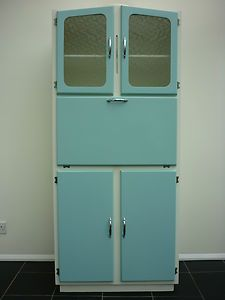 VINTAGE Kitchen Larder Cabinet Freestanding Kitchenette Unit 50s 60s Retro