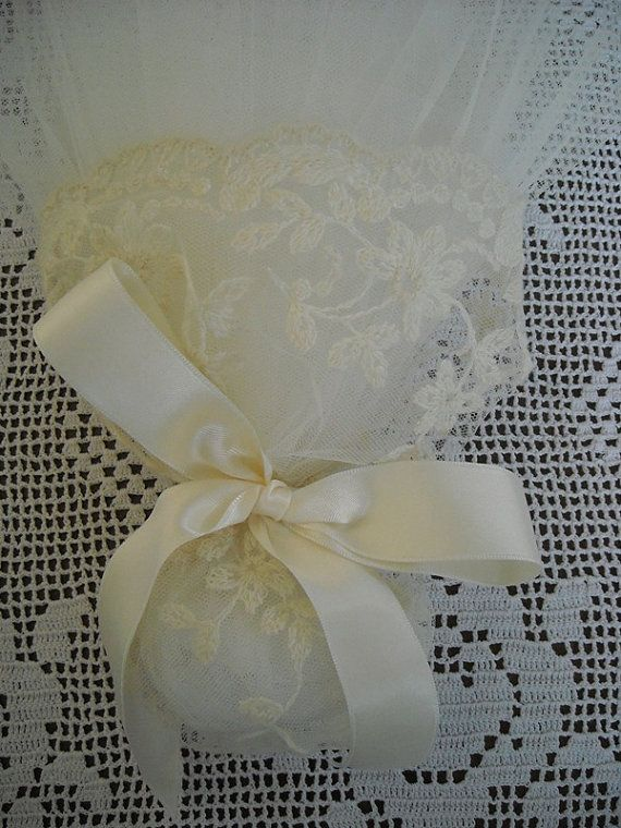 Handmade tulle and lace wedding or bridal by FavorsAndMorebyFiona, $4.80