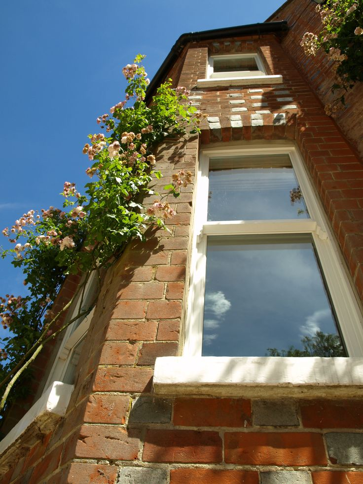 Bay Window with a Wooden Box Sash