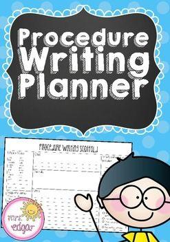 Procedure Writing Planner by Mrs Edgar   Teachers Pay Teachers