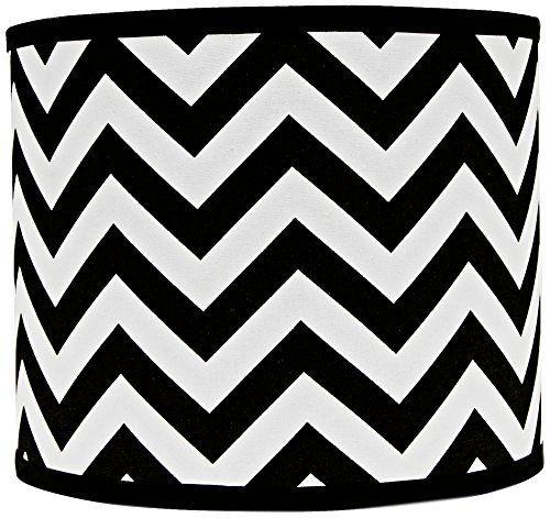 Large drum lamp shade. * Black and white chevron design. * Hardback shade design. * Chrome spider fitter. * (Placed within the Amazon Associates program) * 03:48 Mar 6 2017
