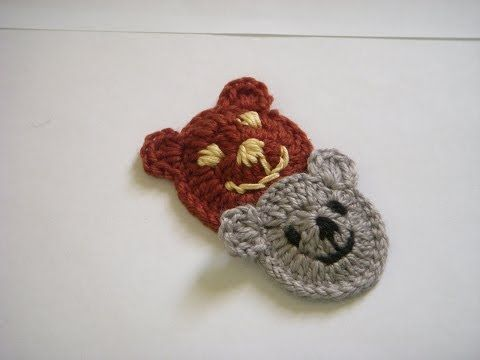 Crochet bear applique.  http://sussle.org/c/Crochet/1381954982.009