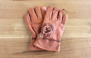 Kew Garden leather gardening gloves