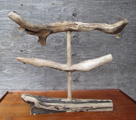Driftwood 2 Tiered Bracelet or Necklace Display by DriftingConcepts