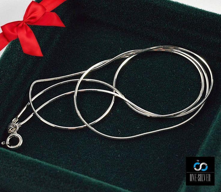 Linka ośmiokątna srebrna pr.925 50cm 0.85mm HURT ! www.one-silver.pl