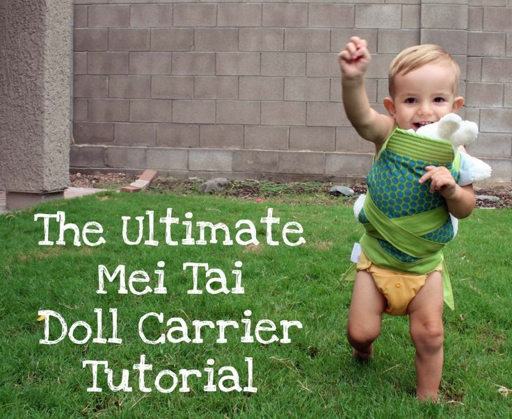 The Shopping Mama » Mei Tai Doll Carrier Tutorial {Mindful Mama}    So cute! Might sew the shoulder straps to the carrier so DD can slip it on herself and use velcro for the waist strap instead of tying. Might cut down on the amount of fabric tied around the itty bitties too.