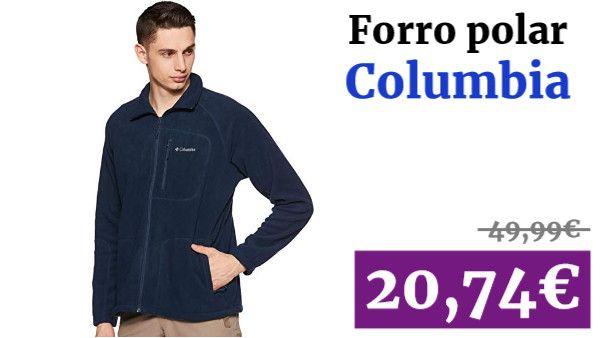 Columbia 1420421 Azul Chaqueta Forro Polar Hombre Collegiate Navy XL
