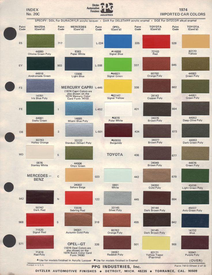 41 best paint chips color code images on pinterest color for Paint color chips