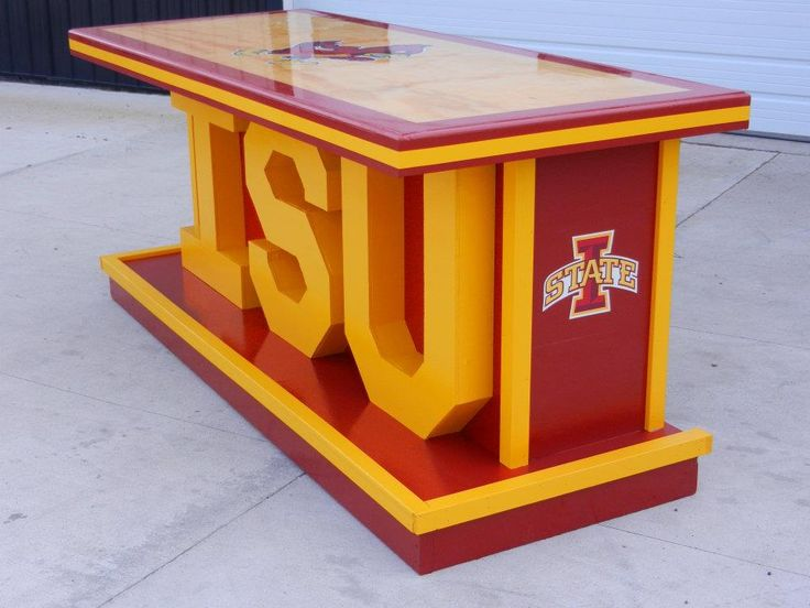 An Iowa State Cyclones bar I built 3ft by 8ft