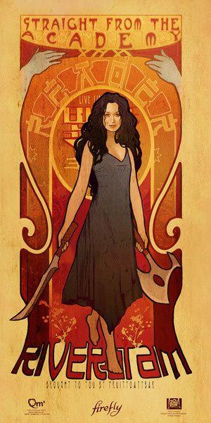 Firefly Les Femmes Poster Set - River Tam (#3 of 4)