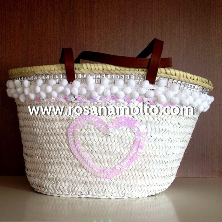 Mejores 82 im genes de cestas en pinterest capazos - Como decorar una cesta de mimbre ...